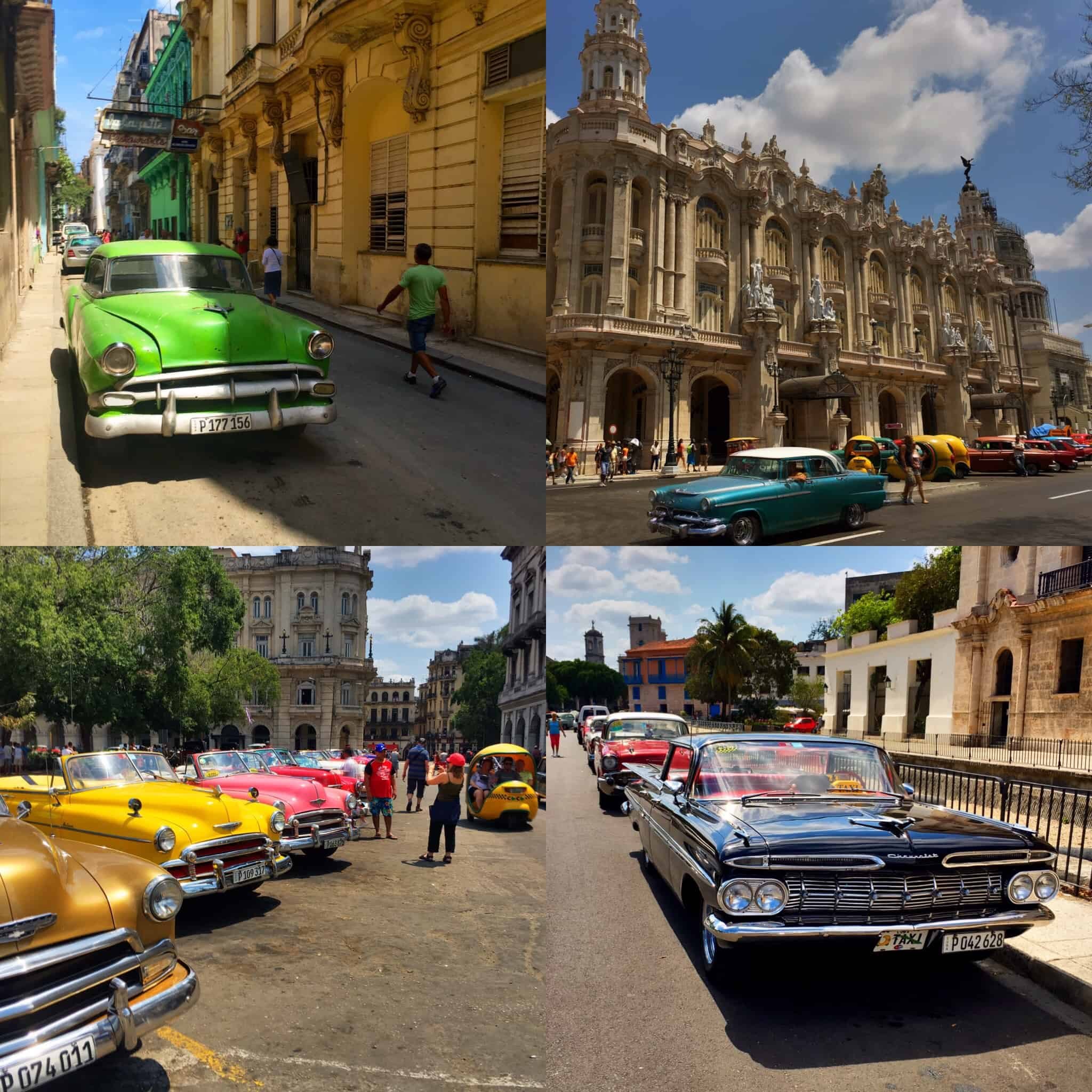 Four photos snapped in downtown Havana taken over a couple days. Each one is so unique that it's hard to pick which ones to post. As you can see, it's very true that old cars absolutely still do dominate the streets.