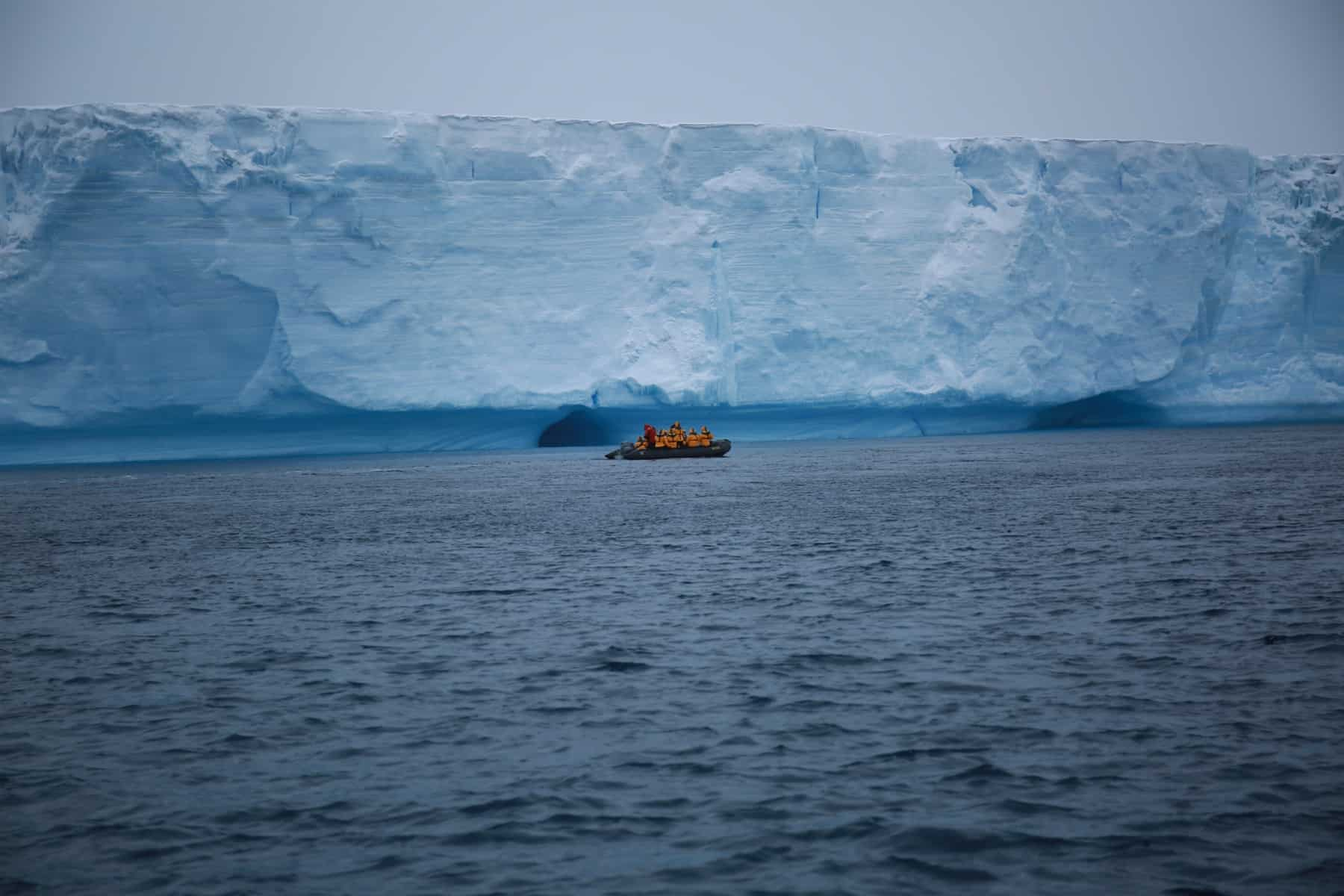 Our Zodiac vs. Iceberg/Shelf